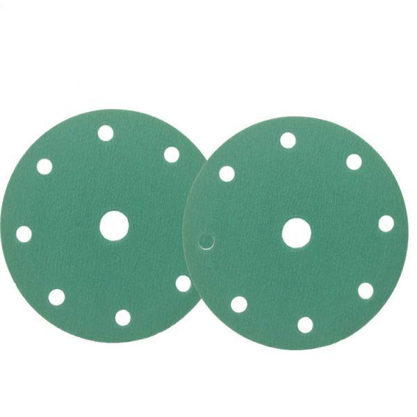 Green polyester Self-adhesive Sanding Pad