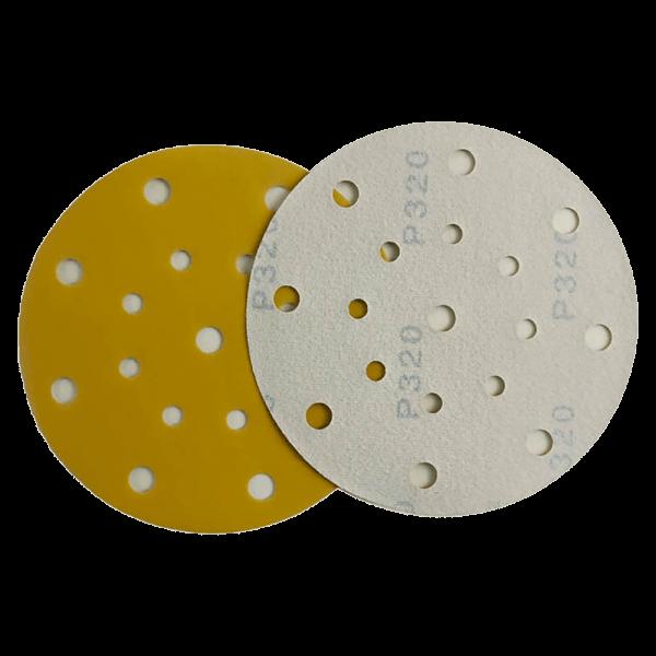 acrylic yellow hook and loop abrasive disc