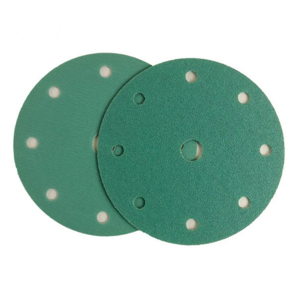 Green Hook and Loop abrasive Sanding Discs